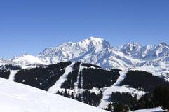 Mont-blanc mountain Stock Photo