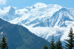 Mont Blanc mountain massif Stock Image