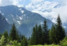 Mont Blanc mountain massif Stock Photo