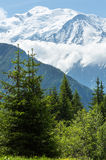 Mont Blanc mountain massif Royalty Free Stock Images