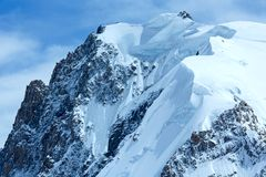 Mont Blanc mountain massif (France) Royalty Free Stock Photos