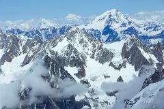 Mont Blanc mountain massif (France) Royalty Free Stock Images