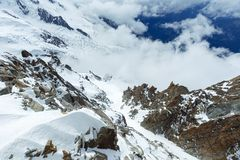 Mont Blanc mountain massif (France) Stock Images