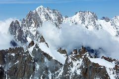 Mont Blanc mountain massif (France) Royalty Free Stock Photography