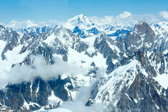 Mont Blanc mountain massif (view from Aiguille du Midi Mount,  F Stock Image