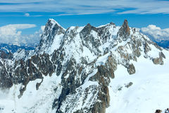 Mont Blanc mountain massif (view from Aiguille du Midi Mount,  F Stock Photos