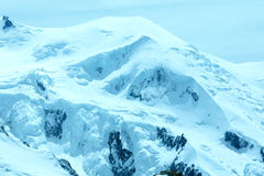 Mont Blanc mountain massif (view from Aiguille du Midi Mount,  F Stock Images