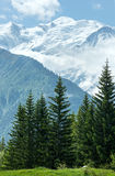 Mont Blanc mountain massif (view from Plaine Joux outskirts) Stock Images