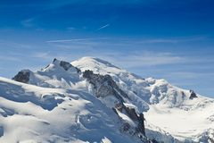 Mont blanc mountain peak Stock Image