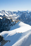 Mont Blanc mountaineers Royalty Free Stock Image