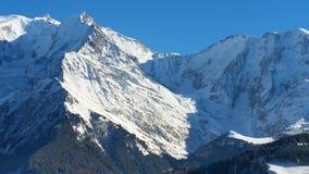 Mont Blanc närbild stock video