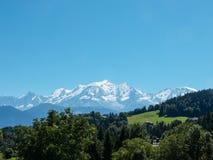 Mont Blanc nelle alpi francesi, Francia Fotografia Stock
