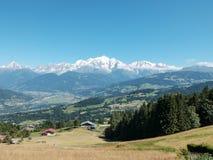 Mont Blanc nelle alpi francesi, Francia Immagine Stock Libera da Diritti