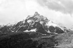 Mont Blanc o Monte Bianco Fotografie Stock