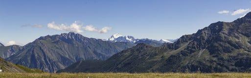Mont Blanc panorama från Muret Royaltyfri Fotografi