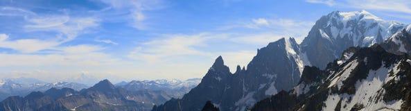 Mont Blanc panorama. Mont Blanc panoramic landscape, Italy Royalty Free Stock Photos