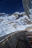 Mont Blanc peak, Italian and French Alps, Italy side. stock photography