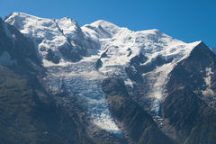 Mont Blanc range from Brevent Stock Photos