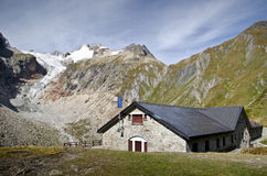 Mont Blanc refuge hut Stock Photography