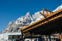Mont Blanc-reisalarm Stock Foto's