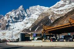 Mont Blanc road Stock Photos
