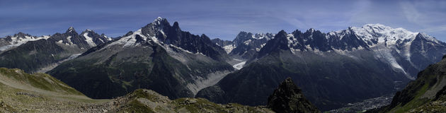Mont Blanc s'échelonnent Images libres de droits
