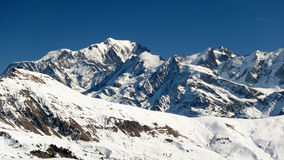 Mont Blanc, Savoy, France. Mont Blanc massif in Savoy (France Stock Photo