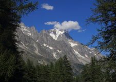 The Mont Blanc , seen from the Val Veny valleys Royalty Free Stock Photography