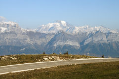 Mont-Blanc from Semnoz, near Annecy Stock Images