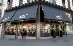 Mont Blanc shop Royalty Free Stock Image