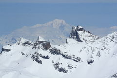 Mont Blanc, Sky Areas, Panorama of the Hils, Les Deux Alpes, France, French Stock Photo