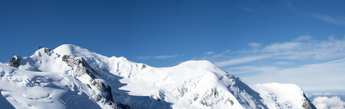 Mont Blanc skyline Stock Images