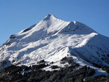 Mont Blanc snow mountain. Mont Blanc covered with snow Royalty Free Stock Image