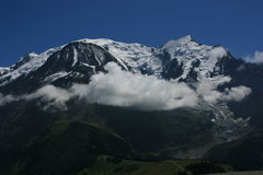 Mont-Blanc am Sommer Stockbild