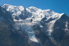Mont Blanc-Strecke von Brevent Stockfotos