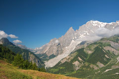 Mont Blanc in summer Royalty Free Stock Images