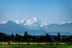 Mont Blanc in summer. Stock Photo
