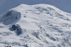 Mont Blanc Summit Imagenes de archivo