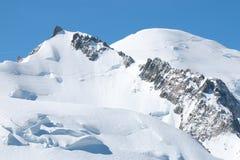Mont Blanc Summit Foto de archivo libre de regalías