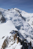 Mont Blanc Summit Imágenes de archivo libres de regalías