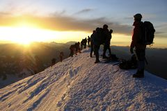 Mont Blanc summit Stock Photography