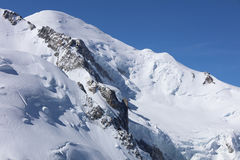 Mont Blanc Summit from Aiguille du Midi. Chamonix Royalty Free Stock Photos