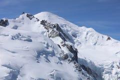 Mont Blanc Summit from Aiguille du Midi. Chamonix Stock Image