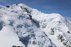 The Mont Blanc Summit Stock Photography