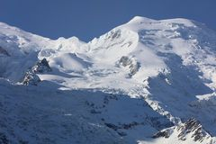 Mont Blanc Summit from Aiguille du Midi Royalty Free Stock Photos