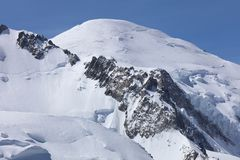 Mont Blanc Summit from Aiguille du Midi Stock Photography