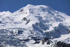 Mont Blanc Summit from Courmayeur Royalty Free Stock Image