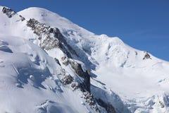 Mont Blanc Summit de Aiguille du Midi Chamonix Fotos de archivo libres de regalías