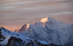 Mont Blanc At Sunrise Royalty-vrije Stock Foto
