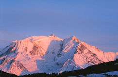 Mont Blanc sunset-1b Photos stock